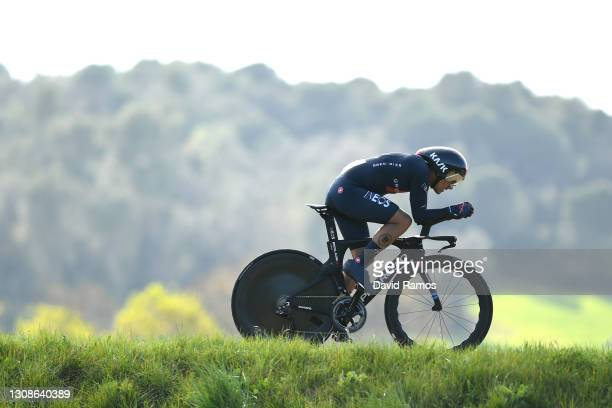 Richard Carapaz of Ecuador and Team INEOS Grenadiers during the 100th Volta Ciclista a Catalunya 2021, Stage 2 a 18,5km Individual Time Trial stage...