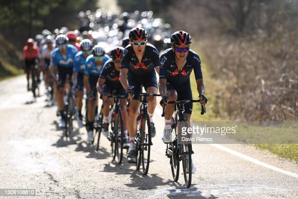 Richard Carapaz of Ecuador and Team INEOS Grenadiers during the 100th Volta Ciclista a Catalunya 2021, Stage 4 a 166,5km stage from Ripoll to Port...