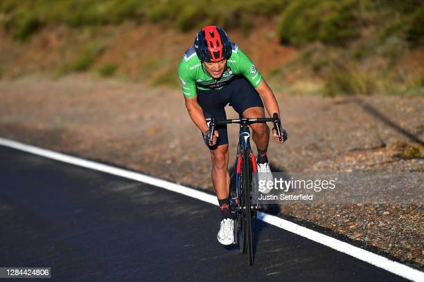 Richard Carapaz of Ecuador and Team INEOS - Grenadiers Green Points Jersey / during the 75th Tour of Spain 2020, Stage 17 a 178,2km stage from...