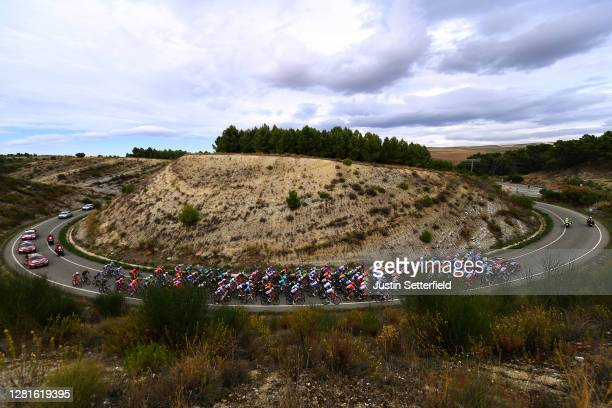 Richard Carapaz of Ecuador and Team INEOS - Grenadiers Polka Dot Mountain Jersey / Daniel Martin of Ireland and Team Israel Start-Up Nation Green...