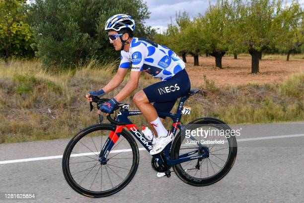 Richard Carapaz of Ecuador and Team INEOS Grenadiers Polka Dot Mountain Jersey / during the 75th Tour of Spain 2020 Stage 3 a 1661km stage from...