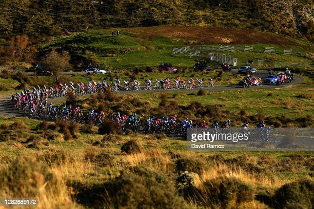 Richard Carapaz of Ecuador and Team INEOS - Grenadiers Red Leader Jersey / Peloton / Landscape / Autumn / during the 75th Tour of Spain 2020, Stage 8...