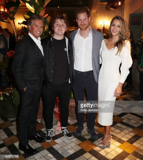 Richard Caring Lewis Capaldi Prince Harry Duke of Sussex Patricia Caring as Sentebale held an event on January 19 hosted by Mr Mrs Caring on behalf...