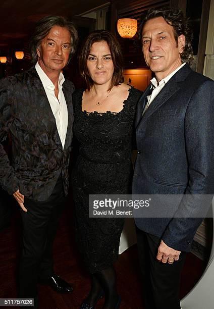 Richard Caring Tracey Emin and Stephen Webster attend the launch of Tracey Emin and Stephen Webster's new jewellery collection 'I Promise To Love...