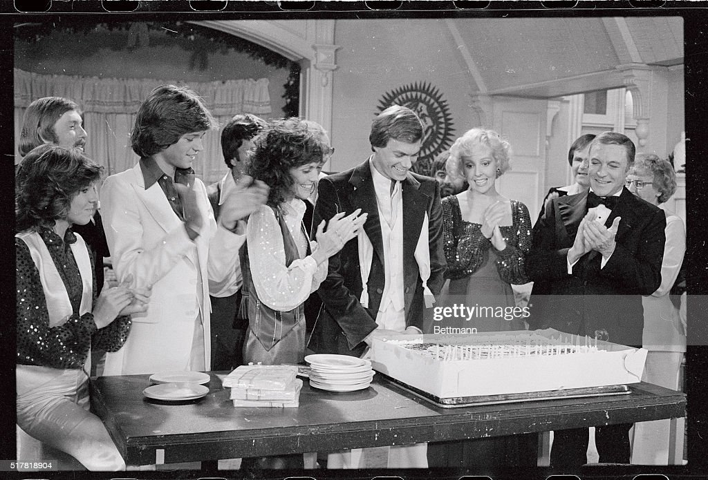 Richard Carpenter Receiving Birthday Cake With Famous Friends