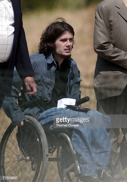 Richard Castaldo one of the survivors of the 1999 Columbine Shootings arrives at a groundbreaking ceremony in Clement Park not far from Columbine...