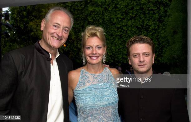 Richard Celeste former Ambassador to India his wife Jacqueline Lundquist and designer Rohit Bal