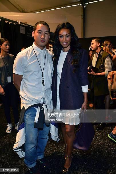 Richard Chai and Brandi Garnett attend the Richard Chai Love Richard Chai Men's show during Spring 2014 MercedesBenz Fashion Week at The Stage at...