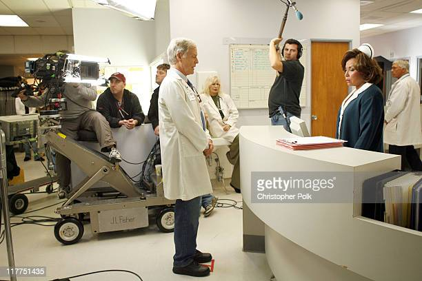 Richard Chamberlain and Diahann Carroll during 2006 TV Land Awards Spoof of Grey's Anatomy at Robert Kennedy Medical Center in Los Angeles California...