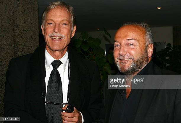 Richard Chamberlain and George Galloway during Celebrities Attend the Late Late Show - September 30, 2006 at RTE Studios in Dublin, Ireland.