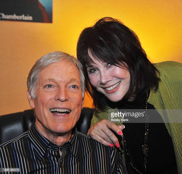 Richard Chamberlain and Michele Lee attend Day 1 of the 2010 Chiller Theatre Expo at the Hilton Parsippany on April 16 2010 in Parsippany New Jersey