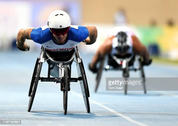 Richard Chiassaro of Great Britain competes during the Men's 400m T54 final race on Day Six of the IPC World Para Athletics Championships 2019 Dubai...