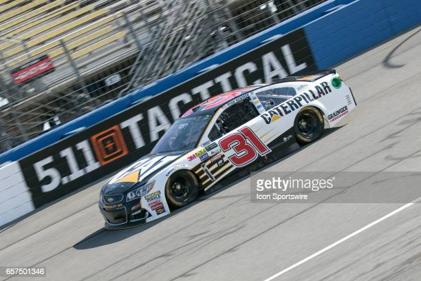 Richard Childress Racing Team Driver Ryan Newman in the Caterpillar car takes his laps in front of the 511 Tactical sign during qualifying for the...