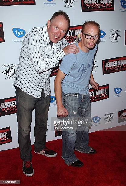Richard Christy and Medicated Pete attend the Jersey Shore Massacre New York Premiere at AMC Lincoln Square Theater on August 19 2014 in New York City