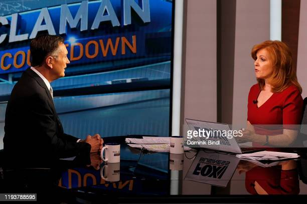 Richard Clarida vice chairman of the US Federal Reserve visits The Claman Countdown at Fox Business Network Studios on December 13 2019 in New York...