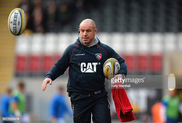 Richard Cockerill Director of Rugby of Leicester Tigers during the Aviva Premiership match between Leicester Tigers and Newcastle Falcons at Welford...