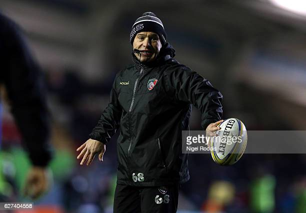 Richard Cockerill Director of Rugby of Leicester Tigers during the Aviva Premiership match between Leicester Tigers and Northampton Saints at Welford...