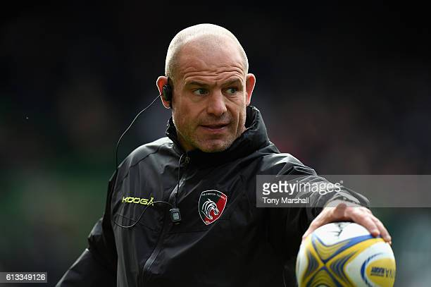 Richard Cockerill Leicester Tigers director of rugby during the Aviva Premiership match between Leicester Tigers and Worcester Warriors at Welford...