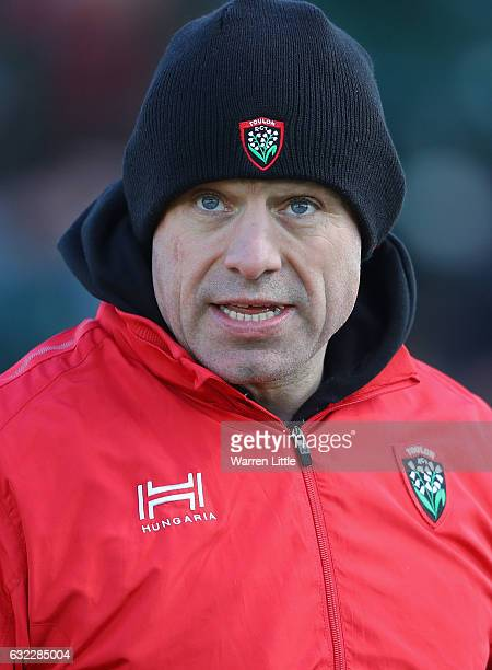 Richard Cockerill RC Toulon coach looks on ahead of the European Rugby Champions Cup between Saracens and RC Toulon at Allianz Park on January 21...