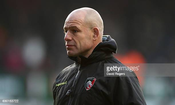 Richard Cockerill the Leicester Tigers director of rugby looks on during the European Rugby Champions Cup match between Leicester Tigers and Munster...