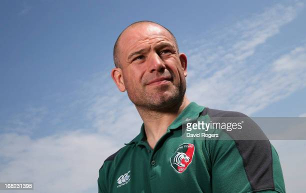 Richard Cockerill the Leicester Tigers director of rugby poses during the Leicester Tigers media session held at the training ground on May 7 2013 in...