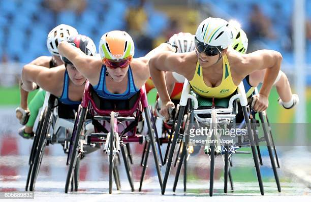 Richard Colman of Australia competes in the Women's 5000m T54 Heat on day 7 of the Rio 2016 Paralympic Games at the Olympic Stadium on September 14...
