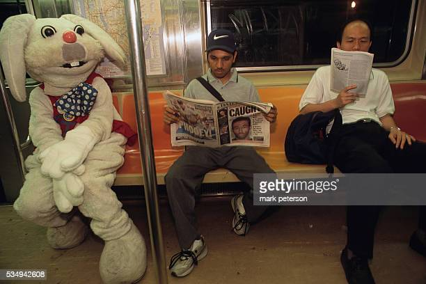 Richard Concepcion wearing his Rapid T Rabbit character's costume on a subway train Furries are people who identify with animals or animal characters...
