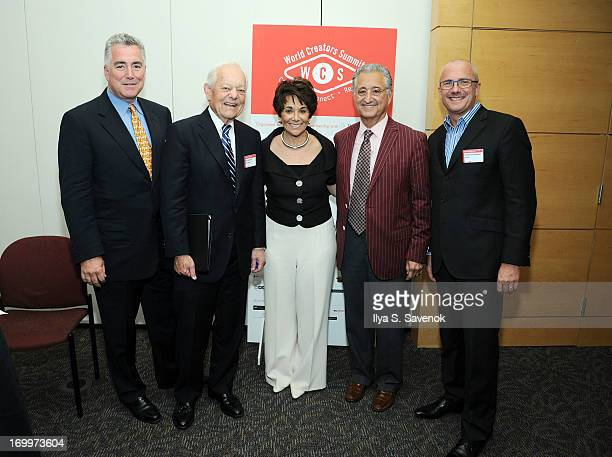 BMI SVP Richard Conlon TV personality Bob Schieffer US Representative Anna Eshoo BMI CEO Del Bryant and Director General of CISAC Olivier Hinnewinkel...