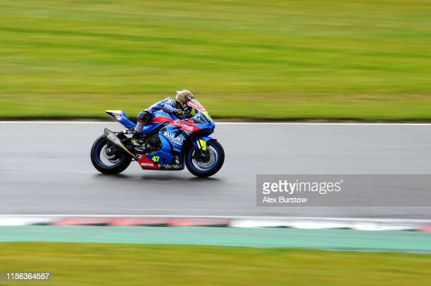 Richard Cooper of Great Britain in action during the Pirelli National Superstock 1000 Championship race at Brands Hatch on June 16 2019 in Longfield...