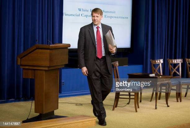 Richard Cordray director of the Consumer Financial Protection Bureau departs after speaking at the White House Summit on Financial Capability and...