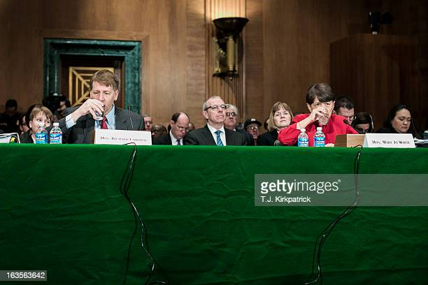 Richard Cordray nominee for director of the Consumer Financial Protection Bureau and Mary Jo White nominee for chair of the US Securities and...