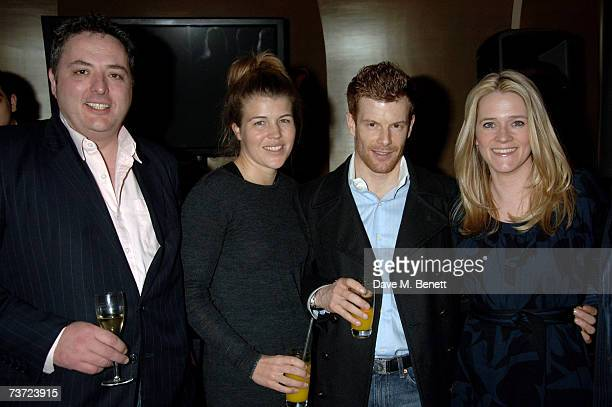 Richard Corrigan Amber Nuttall Tom Aikens and Edith Bowman attend the launch party of the Berkeley Square Ball at Nobu on March 27 2007 in London...