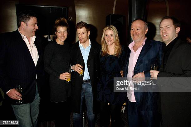 Richard Corrigan Amber Nuttall Tom Aikens Edith Bowman Vince Power and Bryn Williams attend the launch party of the Berkeley Square Ball at Nobu on...