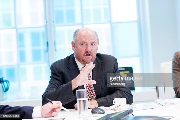 Richard Cousins chief executive officer of Compass Group Plc gestures during an interview in London UK on Wednesday Oct 1 2014 The UK economy grew...