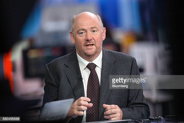 Richard Cousins chief executive officer of Compass Group Plc gestures whilst speaking during a Bloomberg Television interview in London UK on...