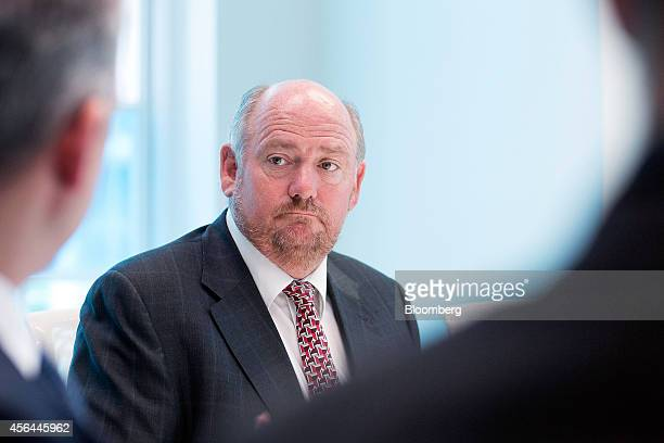 Richard Cousins chief executive officer of Compass Group Plc pauses during an interview in London UK on Wednesday Oct 1 2014 The UK economy grew...