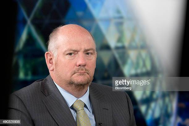 Richard Cousins chief executive officer of Compass Group Plc pauses during a Bloomberg Television interview in London UK on Wednesday May 14 2014...