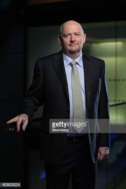Richard Cousins chief executive officer of Compass Group Plc poses for a photograph following a Bloomberg Television interview in London UK on...