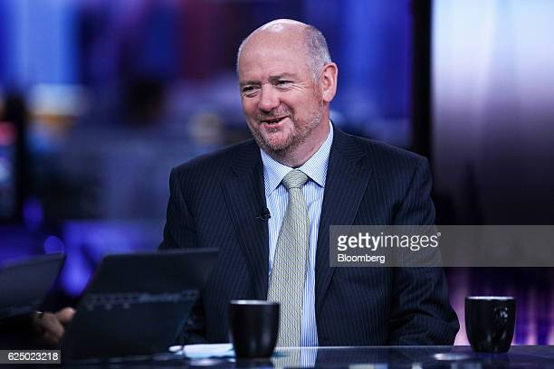 Richard Cousins chief executive officer of Compass Group Plc reacts during a Bloomberg Television interview in London UK on Tuesday Nov 22 2016...