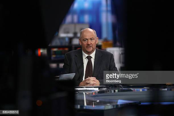Richard Cousins chief executive officer of Compass Group Plc speaks during a Bloomberg Television interview in London UK on Wednesday May 11 2016...
