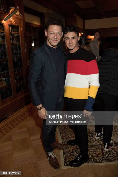 Richard Coyle and Gavin Leatherwood attend the special preview of Netflix's original series 'Chilling Adventures of Sabrina' at the Spellman House in...