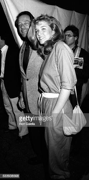 Richard Crenna and daughter Maria Crenna attend Jane Wooster Scott Art Exhibit Opening on April 1 1982 at the De Ville Galleries in Beverly Hills...
