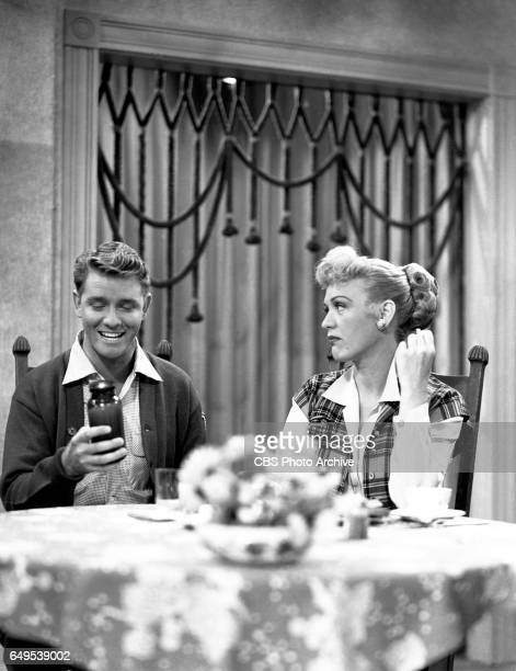 Richard Crenna and Eve Arden star in the CBS television program Our Miss Brooks episode titled Living Statues originally broadcast November 7 1952...