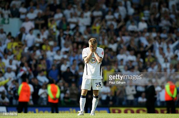 Richard Cresswell of Leeds United looks dejected at the end of the match during the CocaCola Championship match between Leeds United and Ipswich Town...