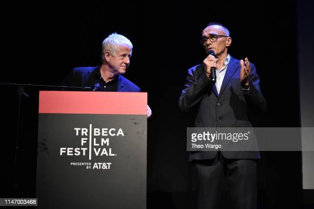 Richard Curtis and Danny Boyle attend Yesterday Closing Night Gala Film 2019 Tribeca Film Festival at BMCC Tribeca PAC on May 04 2019 in New York City