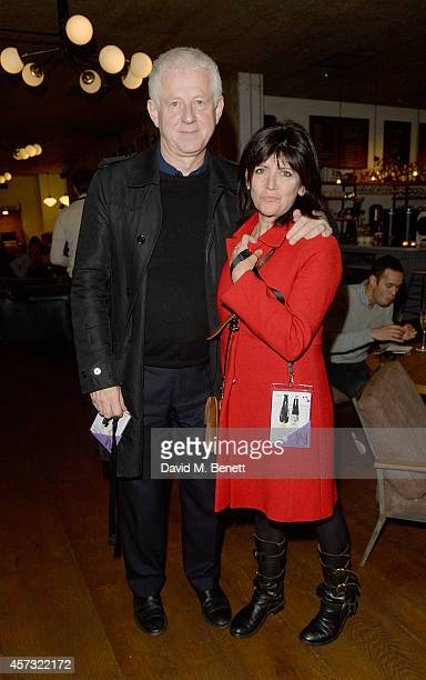 Richard Curtis and Emma Freud at the newly opened hotel The Hoxton Holborn launching with an immersive theatre play The Backstage Tour written by Amy...