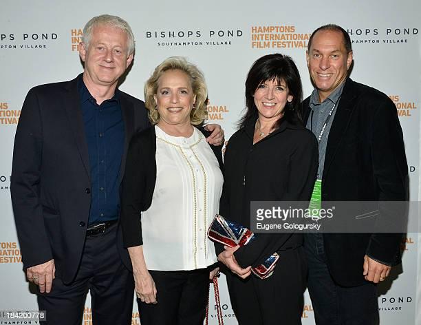 Richard Curtis Anne Barish Emma Freud and Hamptons International Film Festival Board of Directors Chairman Stuart Match Suna attend the 21st Annual...