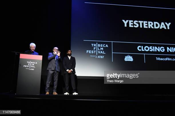 Richard Curtis Danny Boyle and Himesh Patel Yesterday Closing Night Gala Film 2019 Tribeca Film Festival at BMCC Tribeca PAC on May 04 2019 in New...