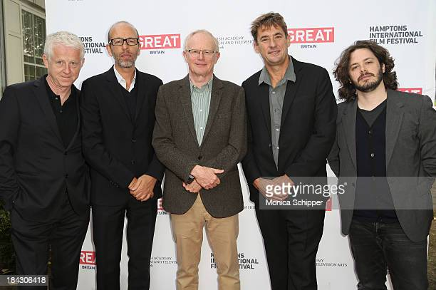 Richard Curtis Eric Fellner Charles Tremayne Tim Bevan and Edgar Wright attend the 21st Annual Hamptons International Film Festival on October 12...