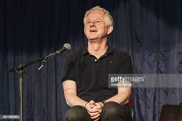 Richard Curtis joins a discussion panel on marriage at The Literature Stage at Latitude Festival on July 19 2015 in Southwold United Kingdom
